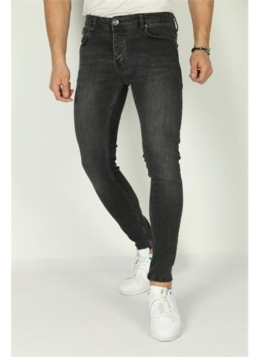 Oksit Reax 139 Slim Fit Likralı Erkek Jean Füme